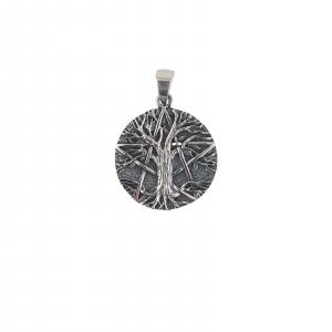Medalion Argint 925% stilizat si aspect usor vintage [0]