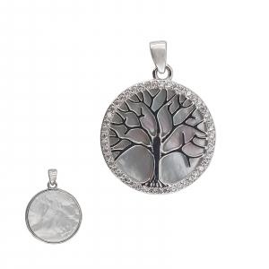 Pandantiv Argint 925%, Copacul Vietii cu Sidef 1876 [3]