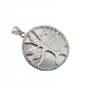 Pandantiv Argint 925% ,Copacul vietii pe Sidef Alb 1914 [3]