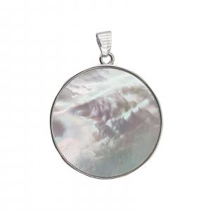Pandantiv Argint 925% ,Copacul vietii pe Sidef Alb 1914 [2]