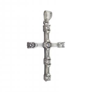 Pandantiv Argint 925% ,Cruce cu Zirconii 1853 [1]