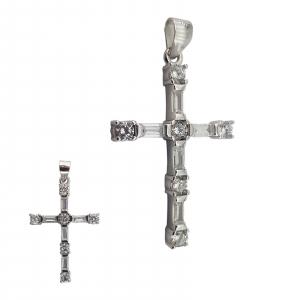 Pandantiv Argint 925% ,Cruce cu Zirconii 1853 [2]
