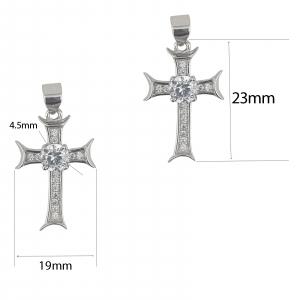 Pandantiv din Argint 925% cruce cu zirconii 2032 [1]