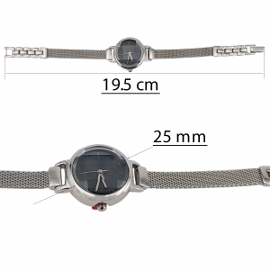 Ceas Argint 925% cu cadran negru [2]