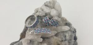 Set Argint 925% cu multiple zirconii colorate 2195 [5]