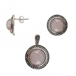 Set Argint 925% Pink Quartz [1]