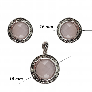 Set Argint 925% Pink Quartz [2]