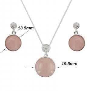 Set Argint 925% Grand Air cu rose cuart [2]