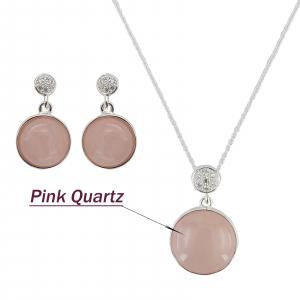 Set Argint 925% Grand Air cu rose cuart [3]