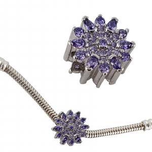 Talisman Argint 925% Purple Flower [2]