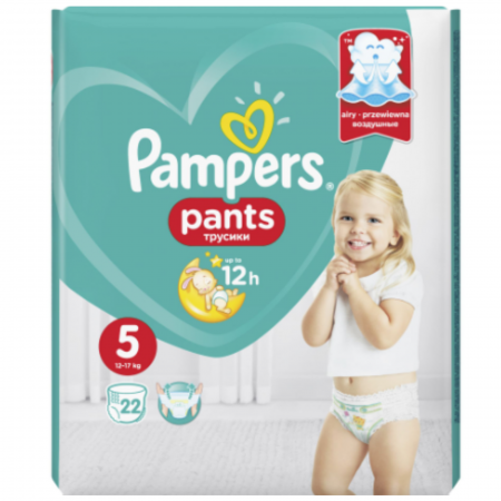 Scutece chilotel Pampers Pants Carry Pack Nr 5, 12-17 kg, 22 buc [0]