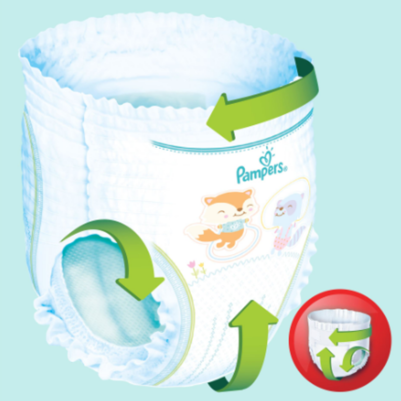 Scutece chilotel Pampers Pants Carry Pack Nr 5, 12-17 kg, 22 buc [1]