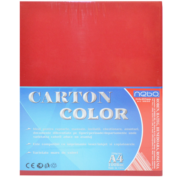 Carton color A4 250g Set 100 0
