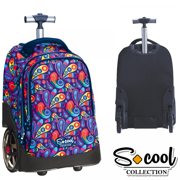 Ghiozdan trolley compartiment laptop, PAISLEY, 48x32x23cm 0