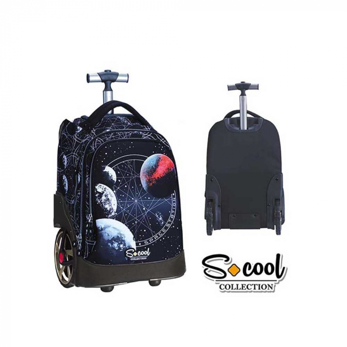 Ghiozdan trolley compartiment laptop, RED PLANET [1]
