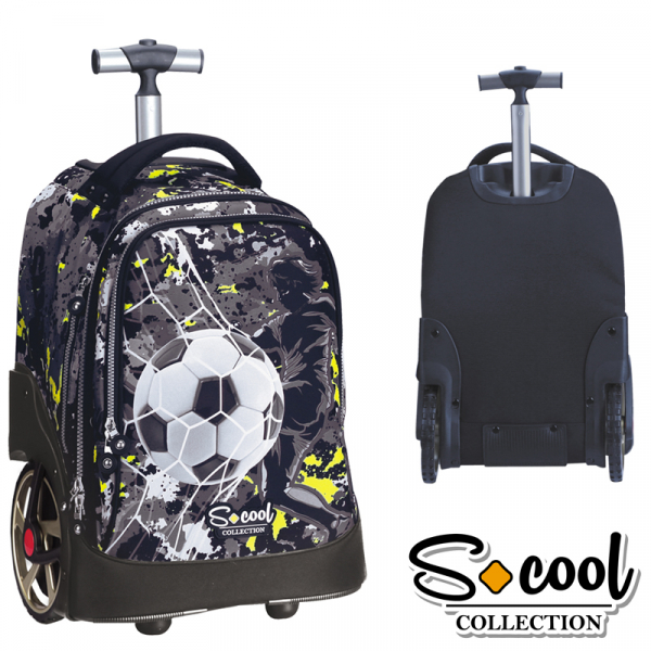 Ghiozdan trolley compartiment laptop, TEAM LEADER 48x32x23cm 0