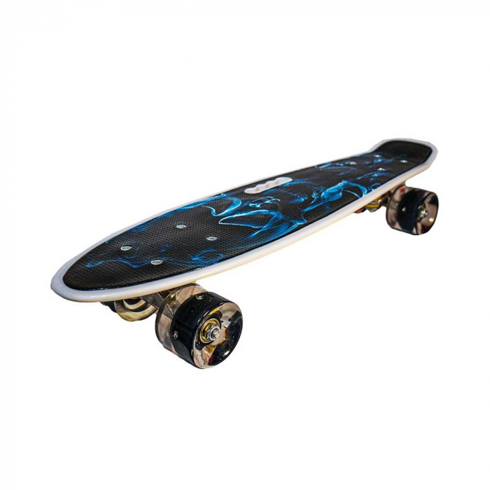 Placa skateboard cu roti silicon, led 8