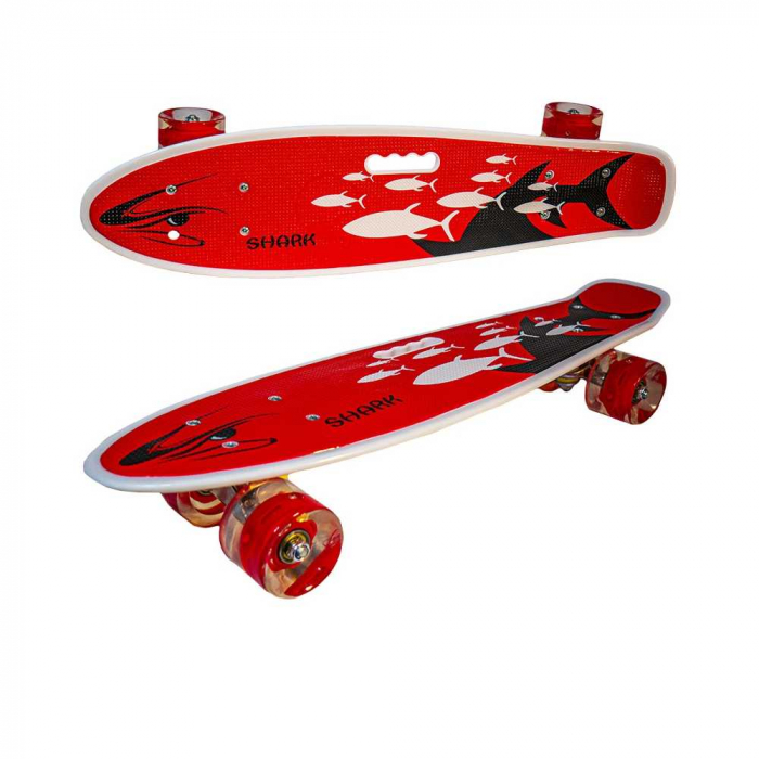 Placa skateboard cu roti silicon, led 1