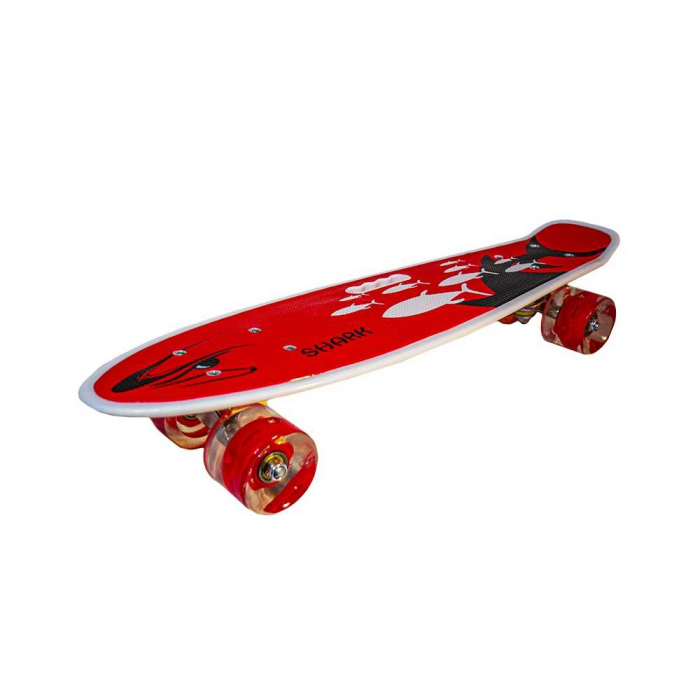 Placa skateboard cu roti silicon, led 5