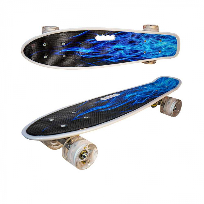 Placa skateboard cu roti silicon, led 2
