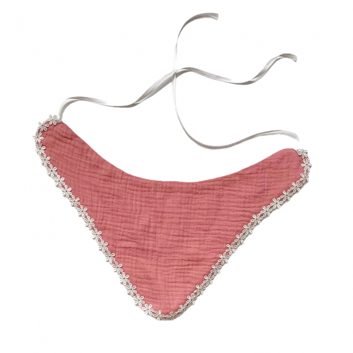 Bavetica din muselina Old Pink [0]