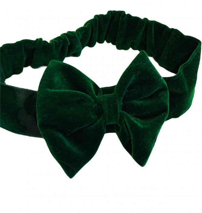 Bentița catifea verde [0]