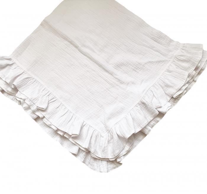 Păturica din muselina cu volănaș [0]