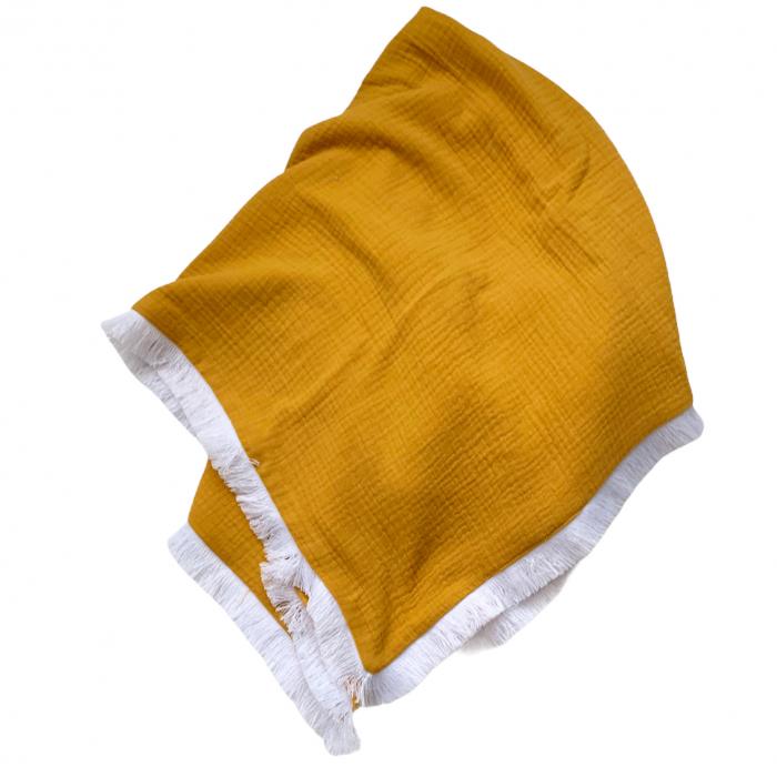 Paturica din muselina organica Dark Yellow [0]