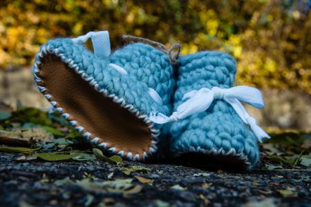 Botoșei din Lână Peruviană Bleu [1]