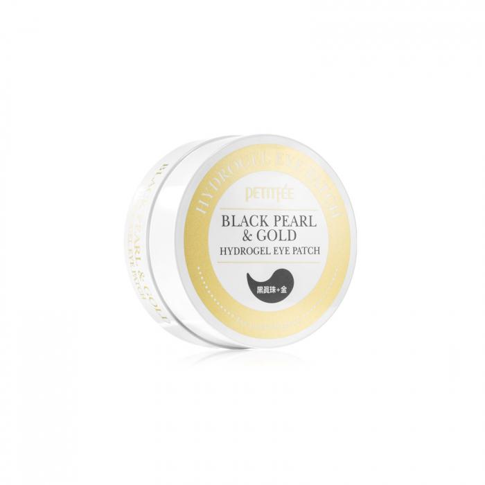 PETITFEÉ Plasturi pentru ochi cu perle negre si aur [2]