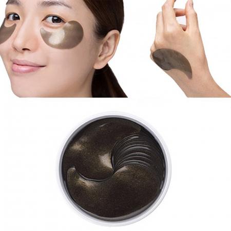 PETITFEÉ Plasturi pentru ochi cu perle negre si aur [4]