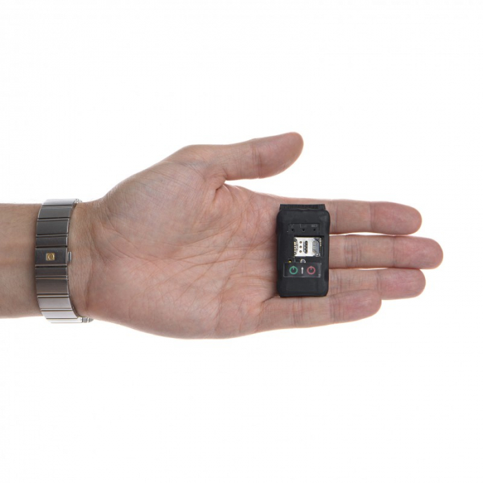 Mini Microfon GSM NanoSIM 4G - 3 zile - 300 mAh - Locatie GPS - Reportofon - SMS Control & Aplicatie [1]