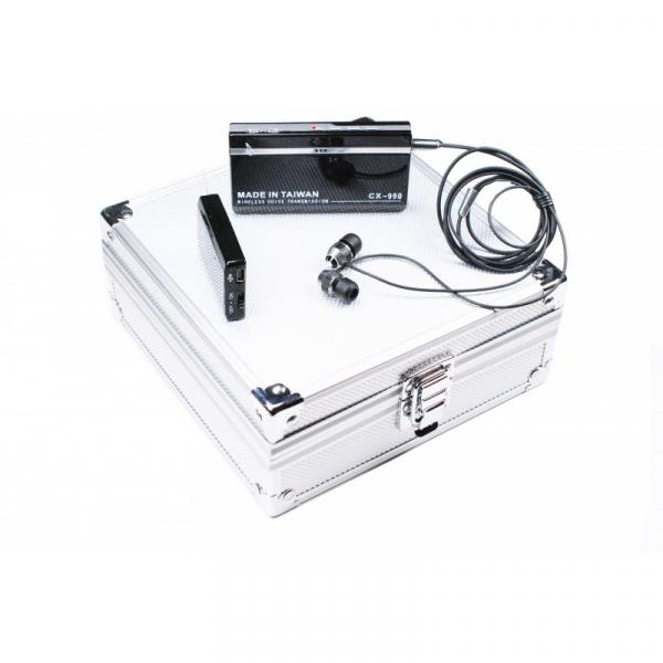 Kit Microfon Spion Wireless UHF 500m + Unitate de Receptie cu Posibilitate de Stocare si Redare 2