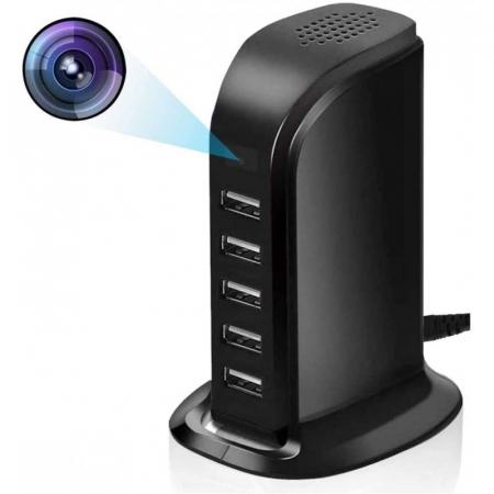 Camera Video 1080HD WiFi Integrata in Statie de Incarcare USB - Senzor de miscare – Vizualizare in timp real [0]