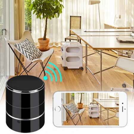 Boxa Bluetooth Portabila cu Microcamera Wi-Fi FULL HD 1080P - Lentila Rotativa - Vizualizare in timp real de la orice distanta [1]