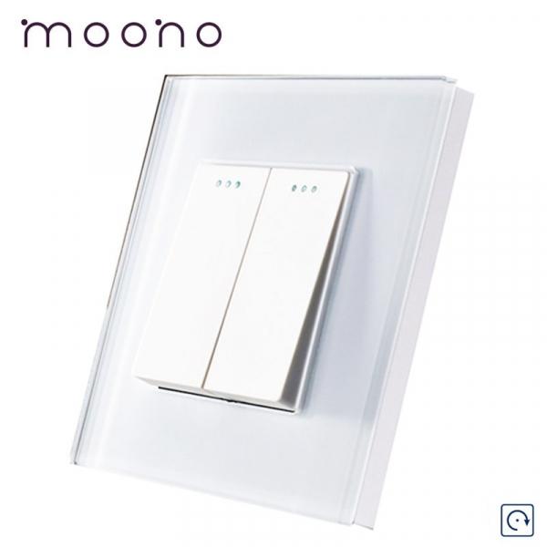 Întrerupător clasic dublu reset (cu revenire) M1 moono 0