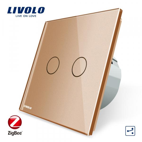Întrerupător Touch dublu cap-scară Livolo ZigBee 0