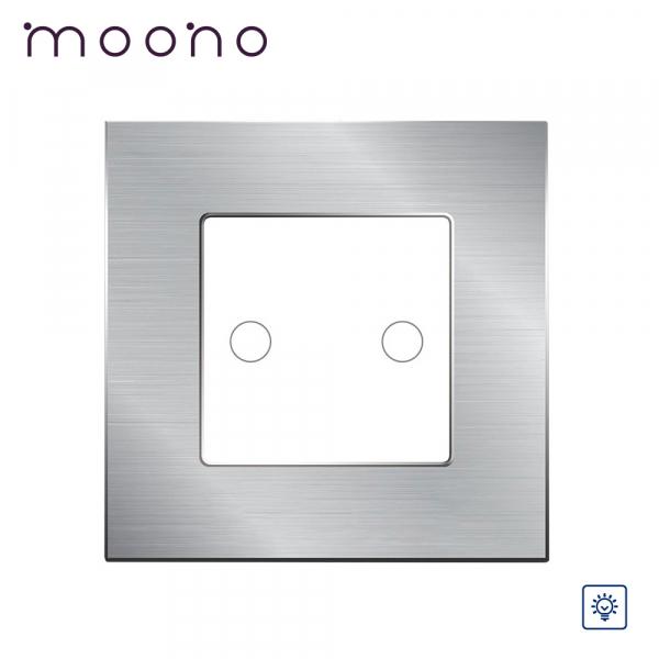 Întrerupător touch dublu cu variator (dimmer) M2 moono