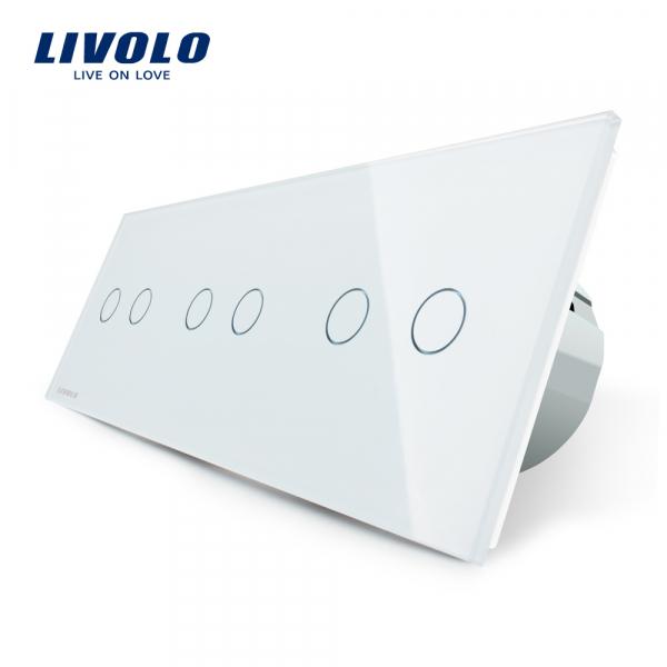 Întrerupător touch 3 x dublu Livolo [0]