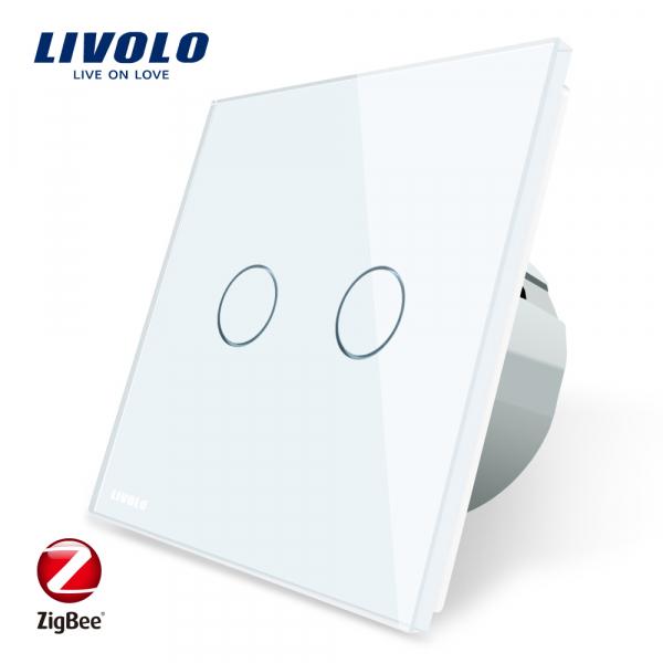 Întrerupător Touch dublu Livolo ZigBee