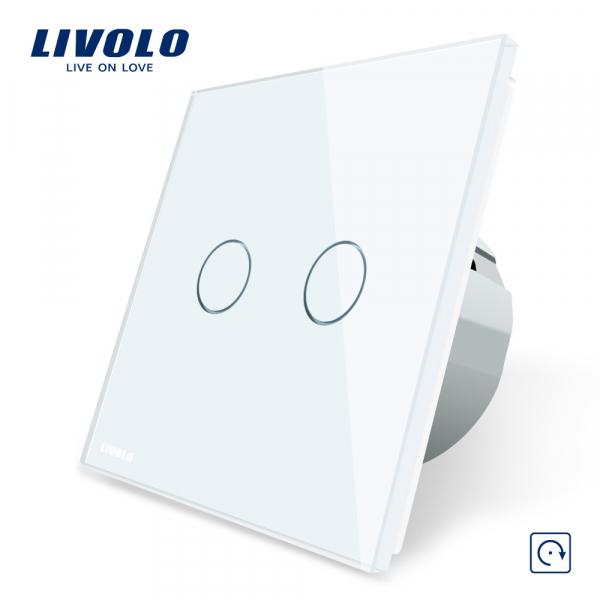 Întrerupător touch dublu reset (cu revenire) Livolo 0