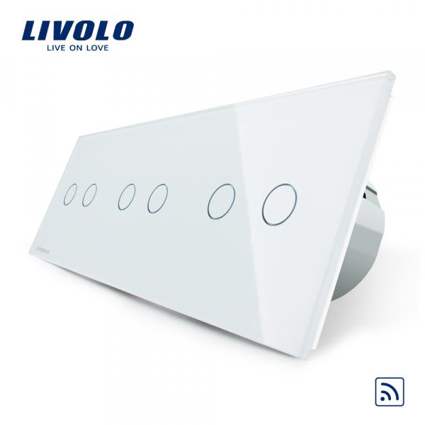 Întrerupător touch 3 x dublu RF Livolo 0