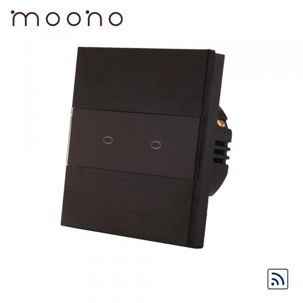 Întrerupător touch dublu RF M3 moono 0