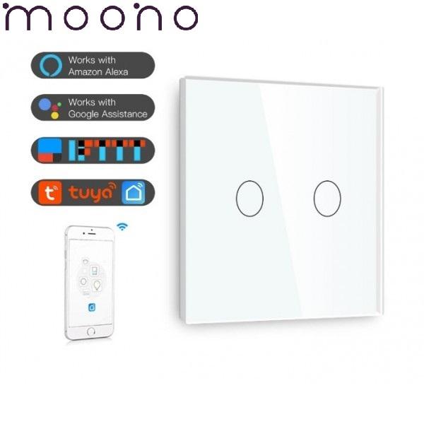 Întrerupător touch dublu WiFi - moono 0