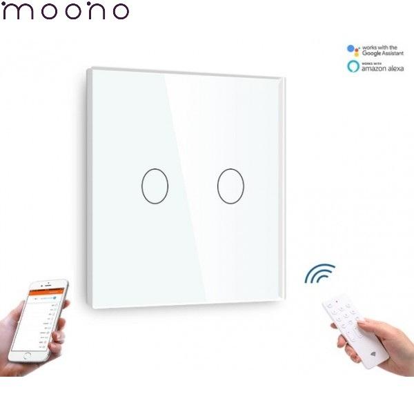 Întrerupător Touch Dublu WIFI+RF Direct - moono 0