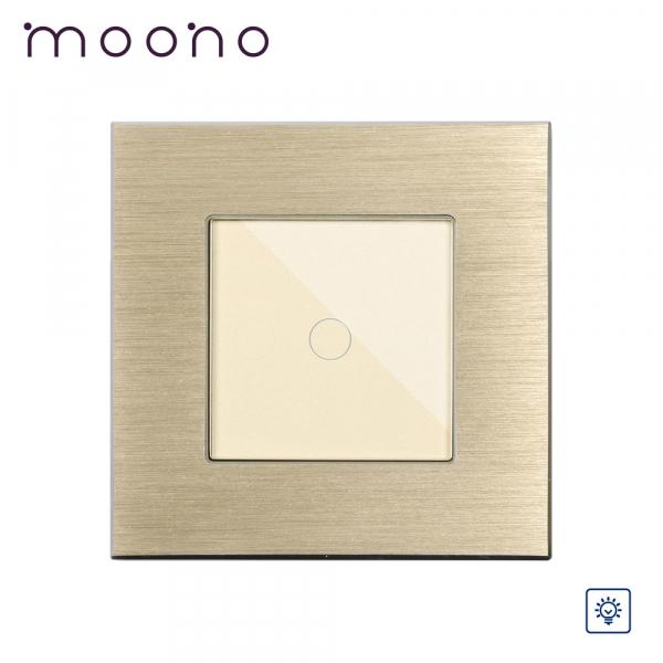 Întrerupător touch simplu cu variator (dimmer) M2 moono 0