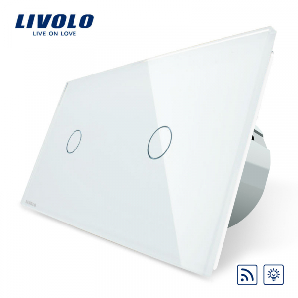 Întrerupător touch simplu+ simplu dimmer RF Livolo 0