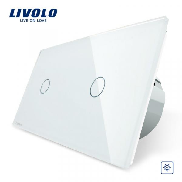 Întrerupător touch simplu + simplu dimmer Livolo [0]