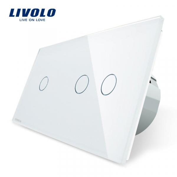 Întrerupător touch simplu + dublu Livolo [0]