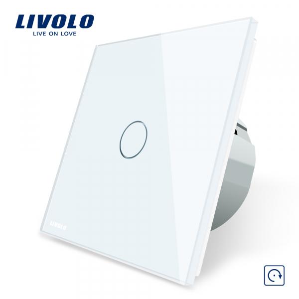 Întrerupător touch simplu reset (cu revenire) Livolo 0